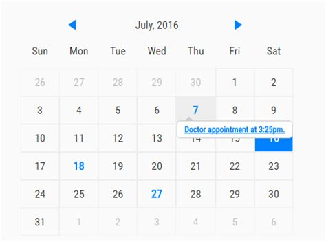 create simple event calendar javascript caleandar