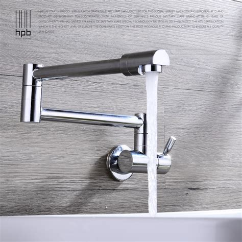 Watermark Kitchen Faucets hpb swivel spout wall mounted kitchen faucet folding brass