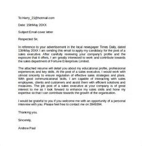 Cover Letter Exles Email Email Cover Letter Exle 10 Free Documents In Pdf Word