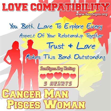 cancer man and pisces woman love compatibility sun signs