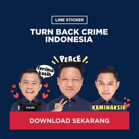 Cutting Sticker Turn Back Crime 1 stiker wajah kombes krishna murti muncul di line merdeka