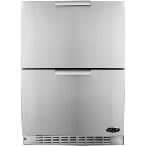 dcs 5 6 cu ft outdoor refrigerator drawers stainless