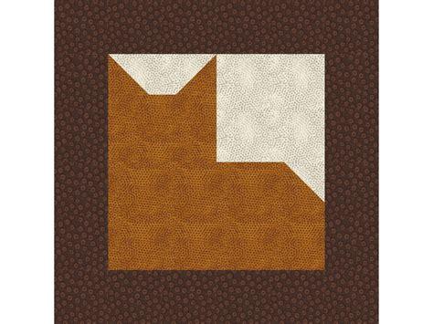 Patchwork Quilt Blocks Patterns - 12 quot patchwork cat quilt block pattern