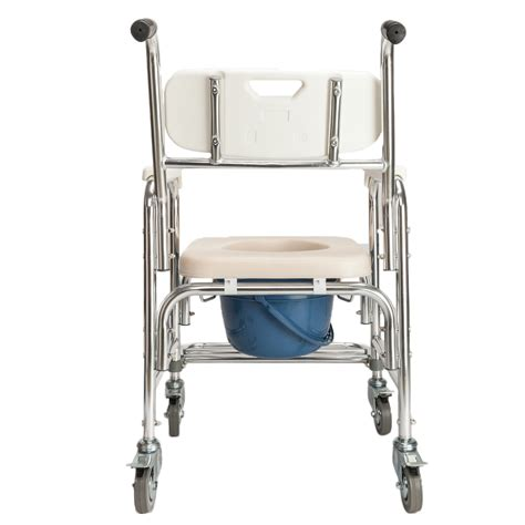 Used Commode Chair - aluminum mobile shower commode chair bedside bathroom