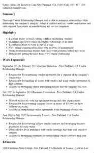 Vendor Manager Sle Resume professional vendor relationship manager templates to showcase your talent myperfectresume