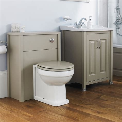 Old London Traditional Grey Furniture Bathroom Cloakroom Suite Traditional Bathroom Furniture