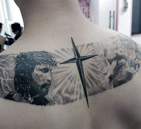 cross tattoo with sun rays 50 badass cross tattoos for manly design ideas