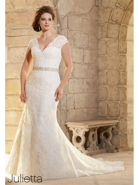 Wedding Dresses Size 24 by Mori 3183 Size 24 Ivory Lace Wedding Dress Plus Size