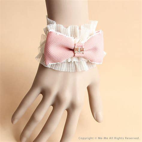 Gelang Korea White Ribbon Pearl Bracelet me me rakuten global market bracelet in pink x white me me 7 000 yen or more to wedding