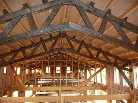 charpente hangar bois charpente hangar bois comment faire une charpente 1 pan