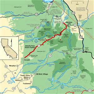 ebbetts pass scenic byway map america s byways