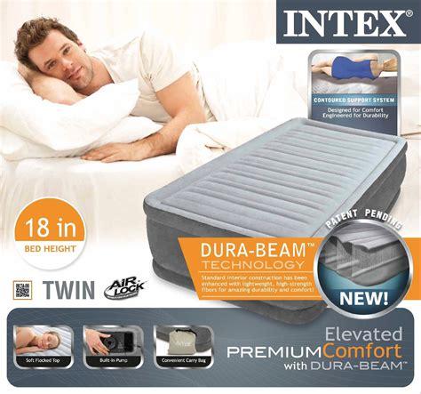 intex comfort plush elevated dura beam airbed intex twin raised airbed comfort plush dura beam air bed