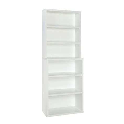 Closetmaid White Shelf Closetmaid 82 In X 30 In White Decorative 6 Shelf Hutch