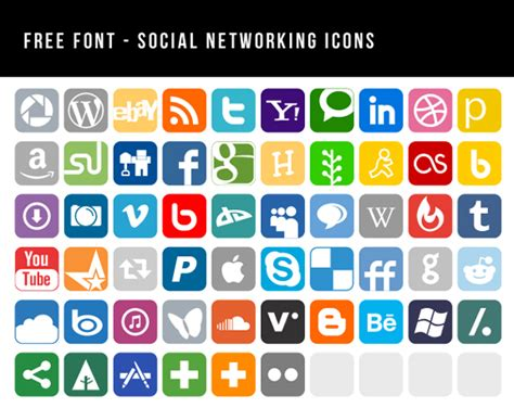 free sosial network icon social media icons in vector format the design work