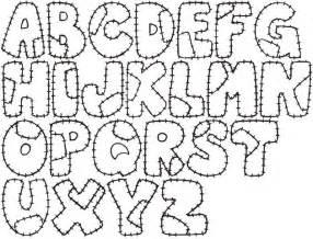 Letter Molde Letras De Patchwork sketch template