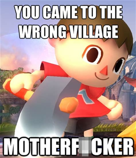 Animal Crossing Villager Meme - ssb4 villager meme memes