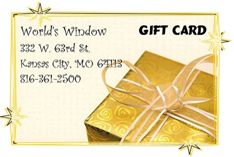 On The Border Gift Cards - gift card world s window