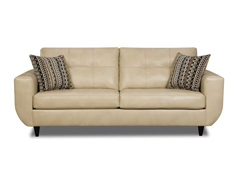Loveseat Sears beige jamestown bonded leather sofa