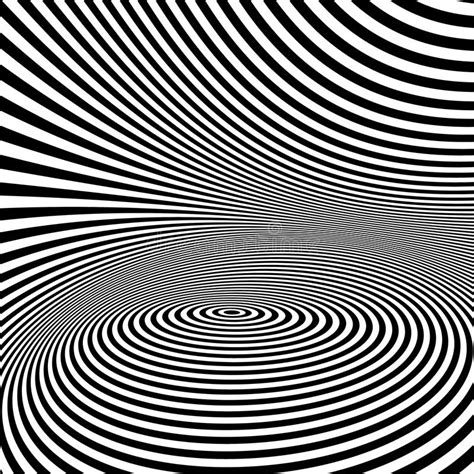 optical pattern vector pattern with optical illusion black and white stock
