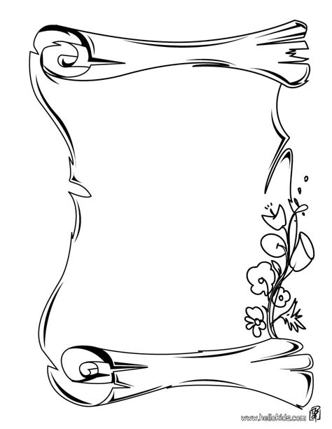 Scroll Coloring Page Coloring Pages Scroll Coloring Page