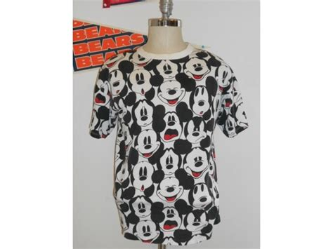 I Mickey Crop Rumbai Tshirt mickey mouse expressions all print vintage t