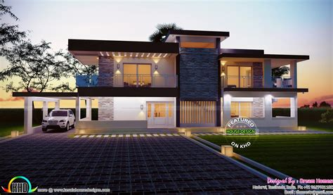 contemporary home design 2685 square feet house plan and elevation kerala home