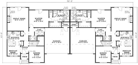 Two Story Garage Plans elegant duplex house plan 59318nd architectural