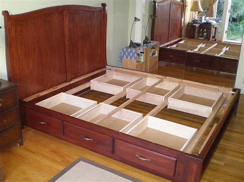 boat with bed underneath storage drawers king size bed with storage drawers underneath