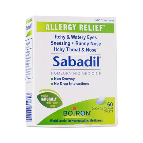 Detox Sneezing Runny Nose by 60 Ct Sabadil 174 Allergy Relief Tablets By Boiron Thrive
