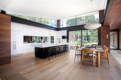 contemporary australian home architecture on yarra river contemporary bushland warrandyte house perched above the