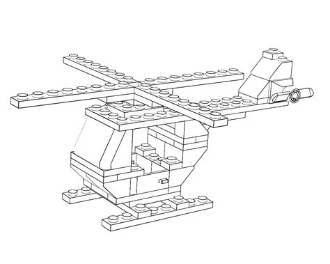 lego helicopter coloring pages 3d lego models colouring lego helicopter downloads
