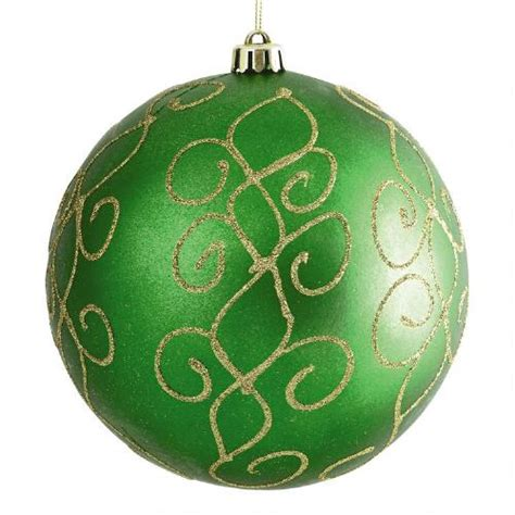 large green swirl shatterproof ornament christmas tree