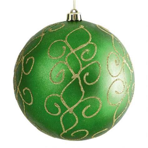 large green swirl shatterproof ornament christmas tree