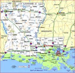 A Map Of Louisiana by Highway Map Of Louisiana Aaccessmaps Com