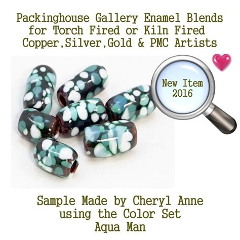 enamel glass frit mix for silver gold copper pmc artists aqua man enamel glass frit for copper gold silver and