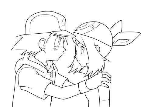 serena and ash coloring pages coloring pages
