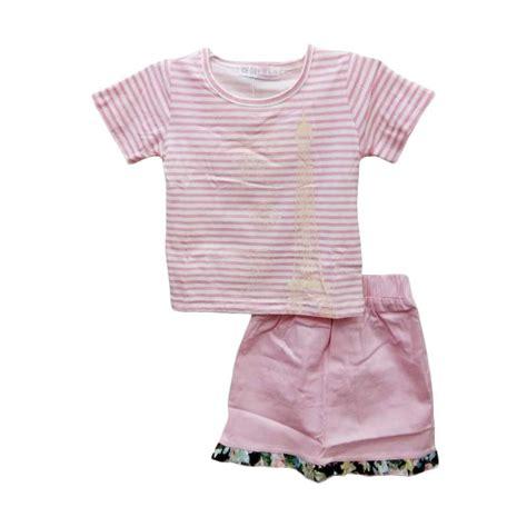 Setelan Pink Anak jual import kid rok setelan pakaian anak perempuan salur
