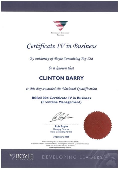 Nibm Mba Certificate Sle by Certificate 4 In Business Management