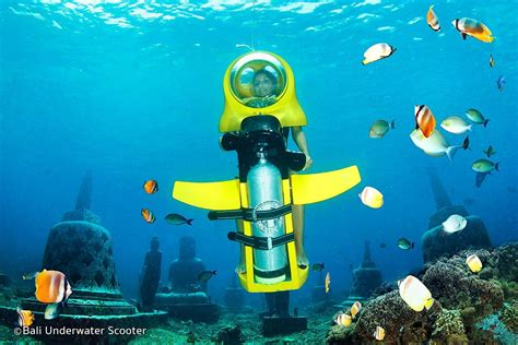 water scooter in bali underwater scooter rides in bali underwater rides for