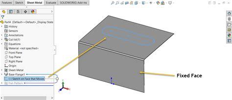 solidworks sketch pattern edit solidworks sheet metal sketch transformation