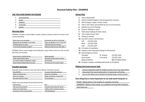 personal safety plan template gallery of no harm contract for therapy practice play