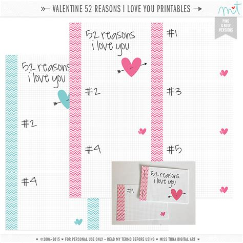 52 reasons why i you template 7 best images of 52 reasons i you printables 52