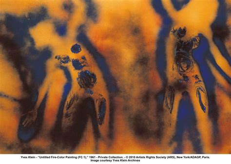 fire colour one advertidordeincendios cuadro 1961 de yves klein 1928 1962 france