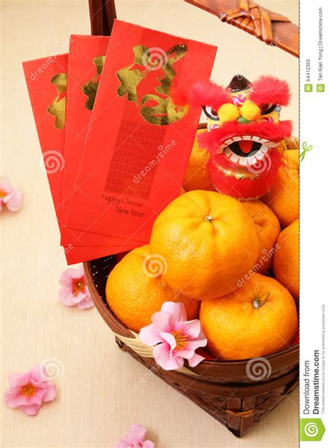 mandarin new year mandarin oranges in basket with new year