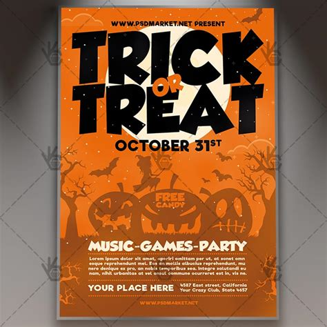 Trick Or Treat Flyer Templates