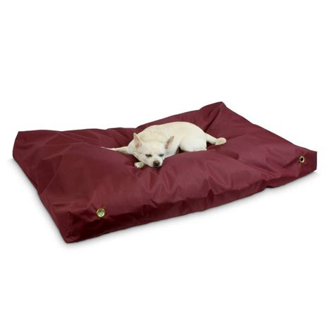 snoozer dog beds shop snoozer burgundy polyester rectangular dog bed at