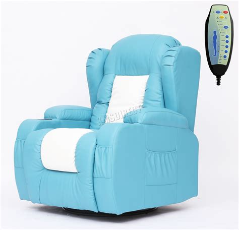 turquoise leather recliner foxhunter leather massage recliner sofa chair rocking mls