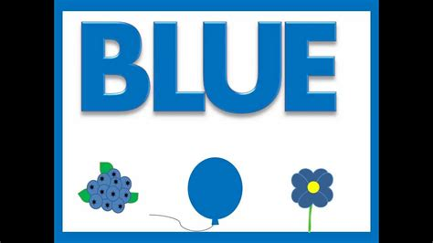 blue color song colors song for toddlers