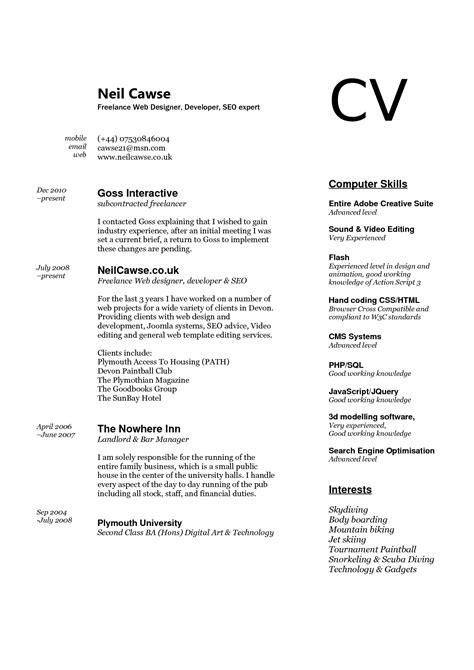 exles of computer skills on resume resume ideas