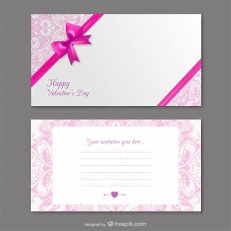 design carte d invitation la carte d invitation de la saint valentin t 233 l 233 charger